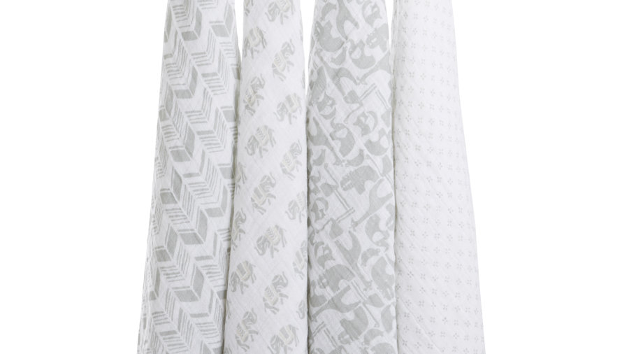 Classic Swaddles- Tea Collection, 4 pack