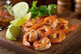 Delicious sauteed shrimp with cajun seas