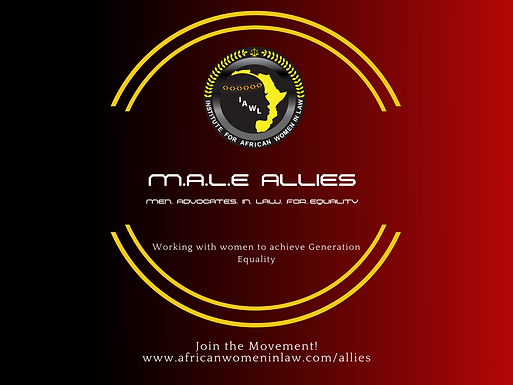 IAWL Launches the M.A.L.E Allies Campaign-Working with Men to Achieve Generation Equality