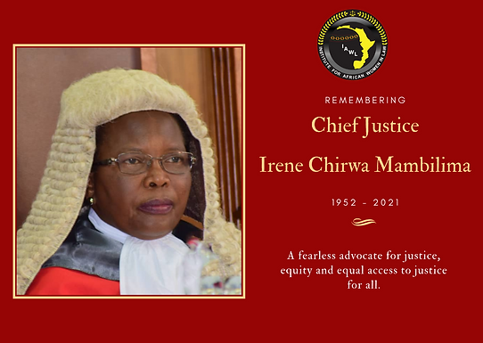 Chief Justice Irene Chirwa Mambilima: A Legacy of Justice and Service