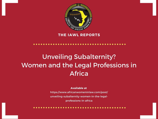 Unveiling Subalternity? Women and the Legal Professions in Africa