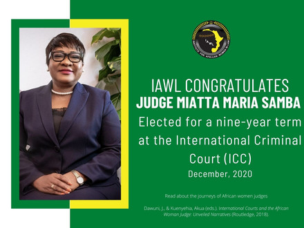 Another Judicial Win for Women of Africa: Judge Miatta Maria Samba Elected to the ICC Bench.
