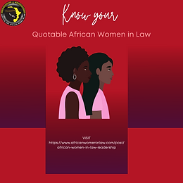African Women in Law and Leadership