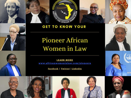 PIONEER AFRICAN WOMEN IN LAW