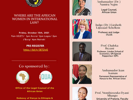 WEBINAR: Where are the African women in international law?