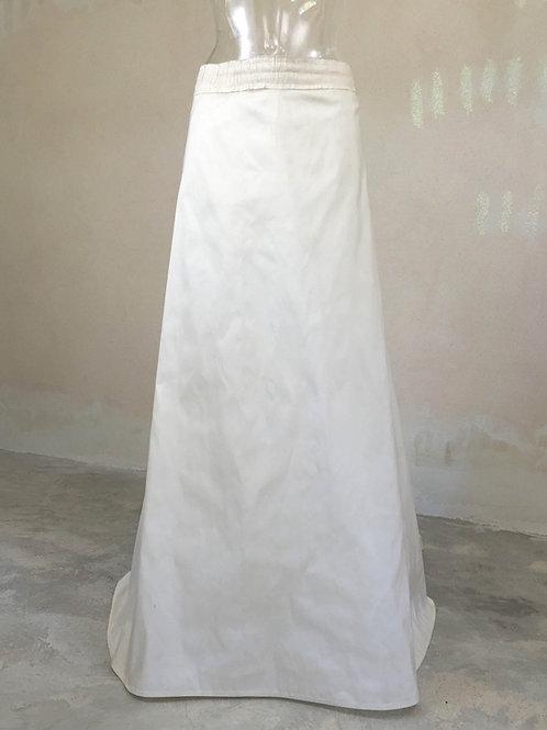 Jupe longiligne à traine soie