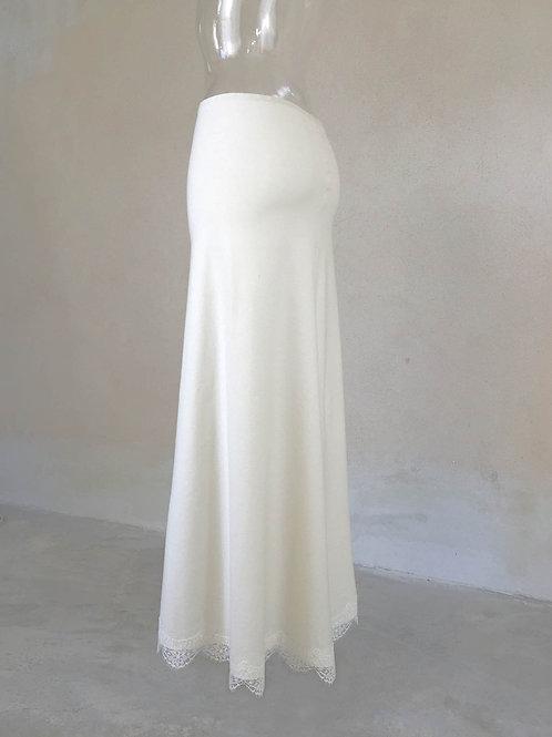Jupon jersey couleur ivoire