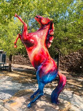 Blaze Stallion Statue