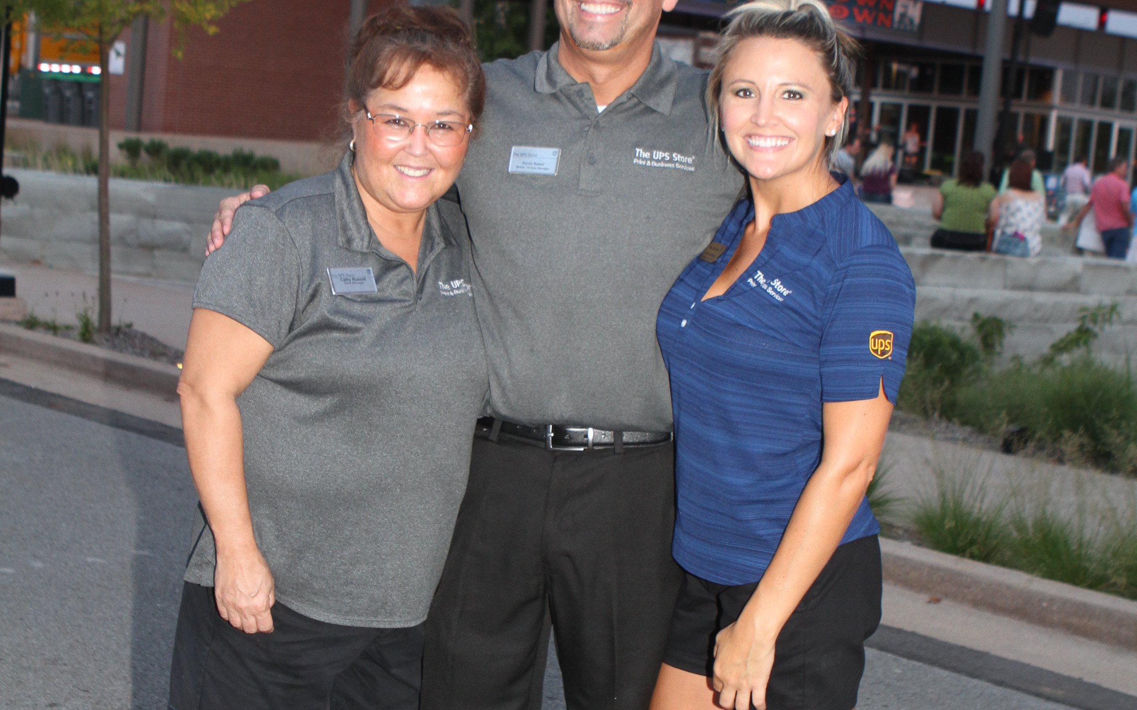 Cathy Russell, Kevin Baker, Brittany Mon