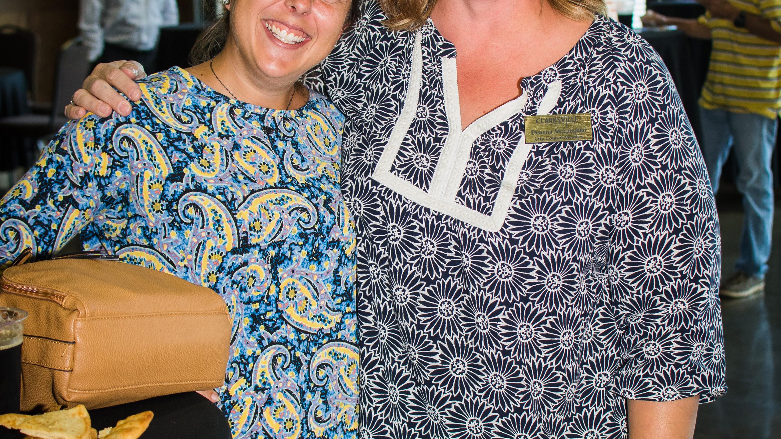Paula Atkins and Deanna McLaughlin