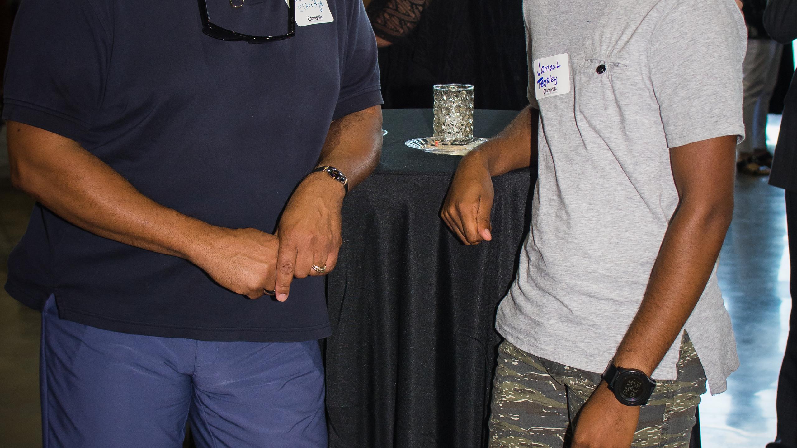 Darwin Eldridge and Jamaal Teasley