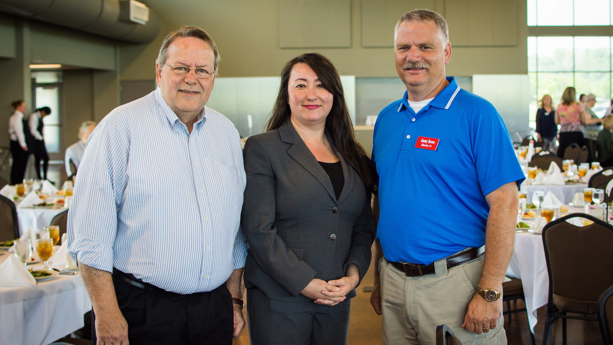 Art Conn, Sandra Brandon, and Jimmy Brown