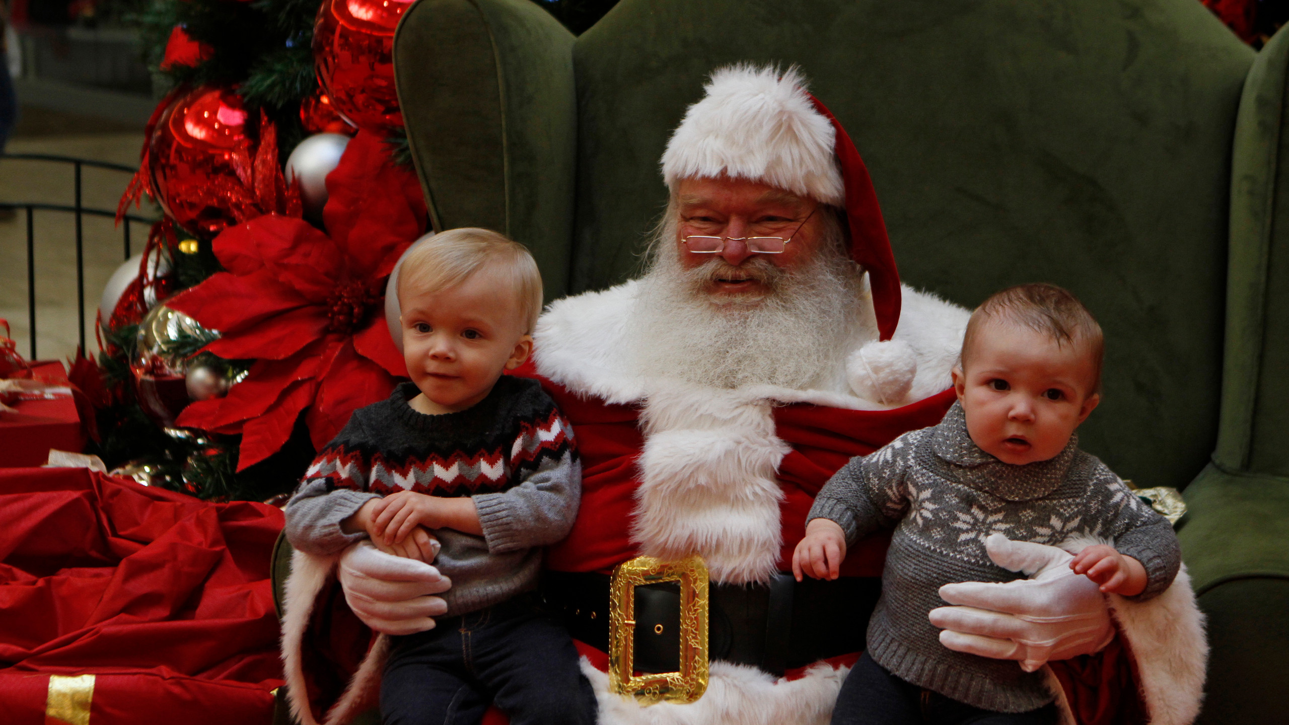 Ryder & Brody Huddleston with Santa Clau