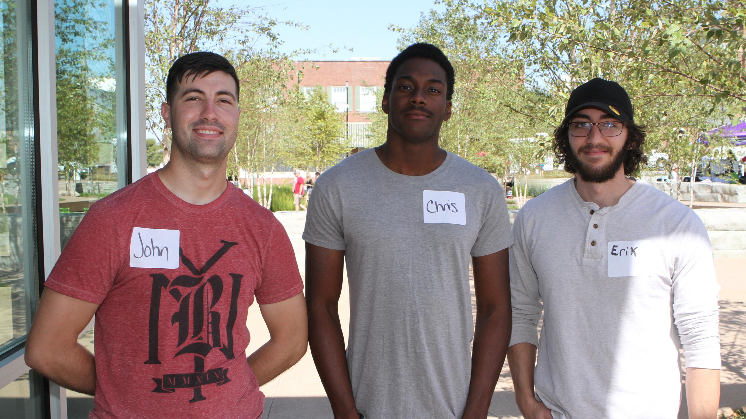John Stover, Chris Vines, Erik Ferreira.