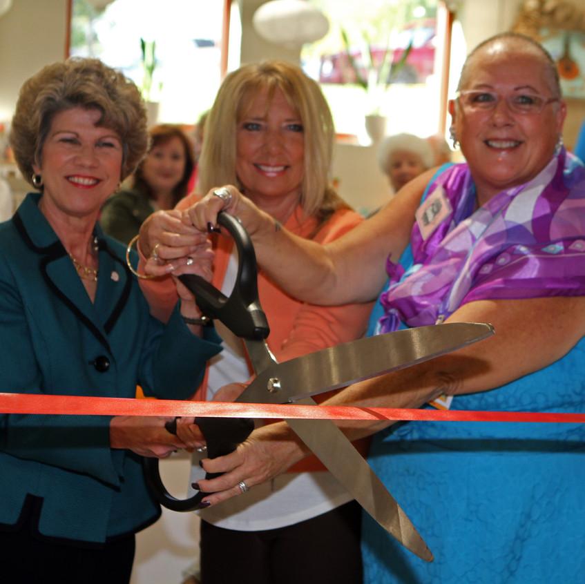 Mayor Kim McMillan, Janet Holleman, Glen