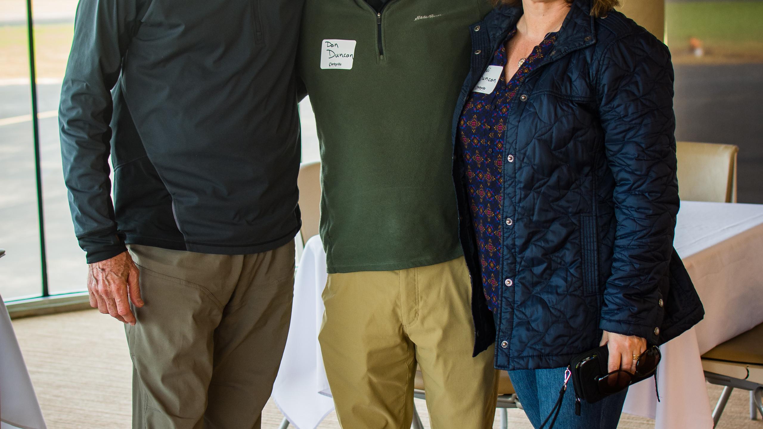 Bill Harpel with Dan and Sandi Duncan