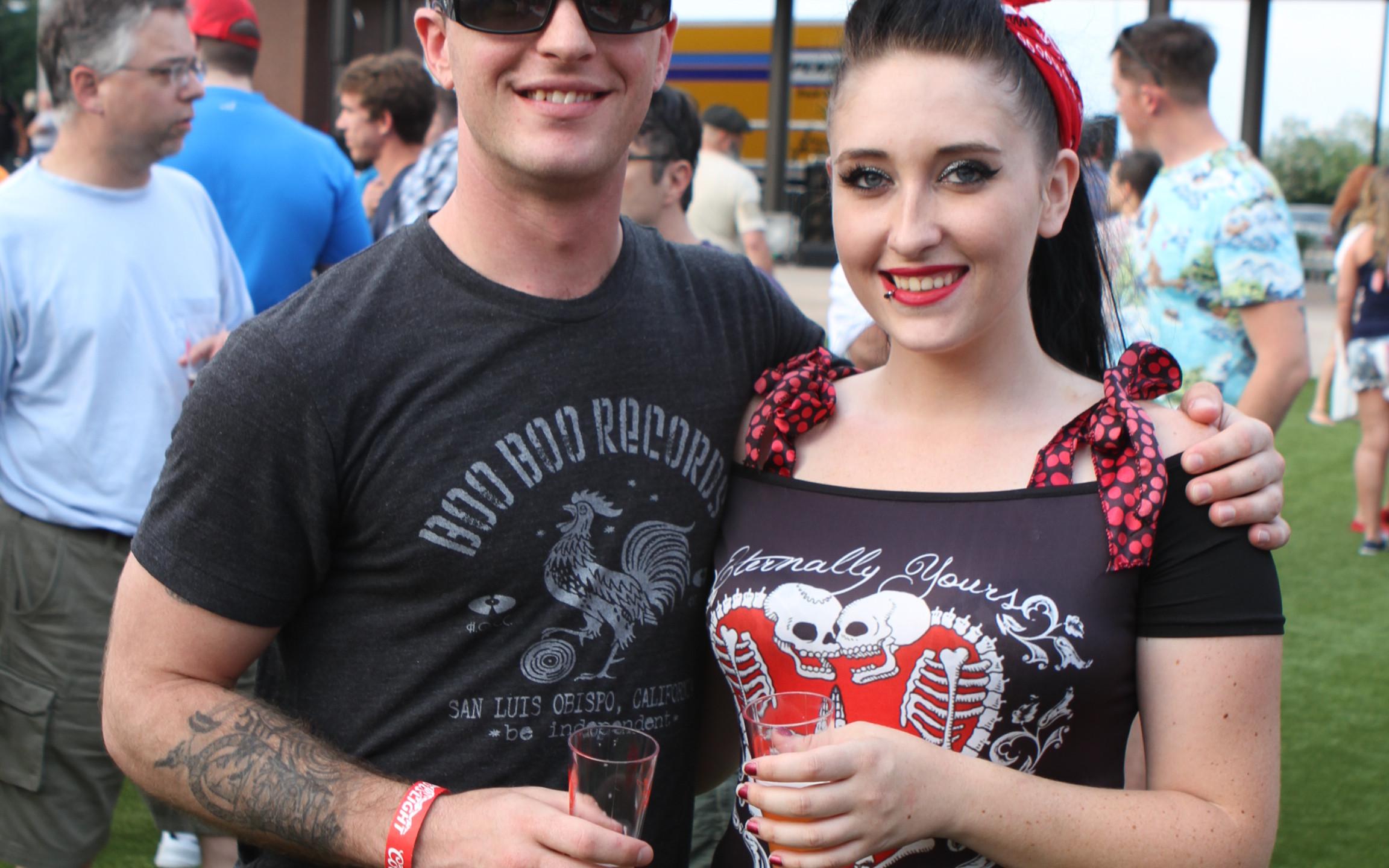 Logan Brouillet and Tabitha Lasing
