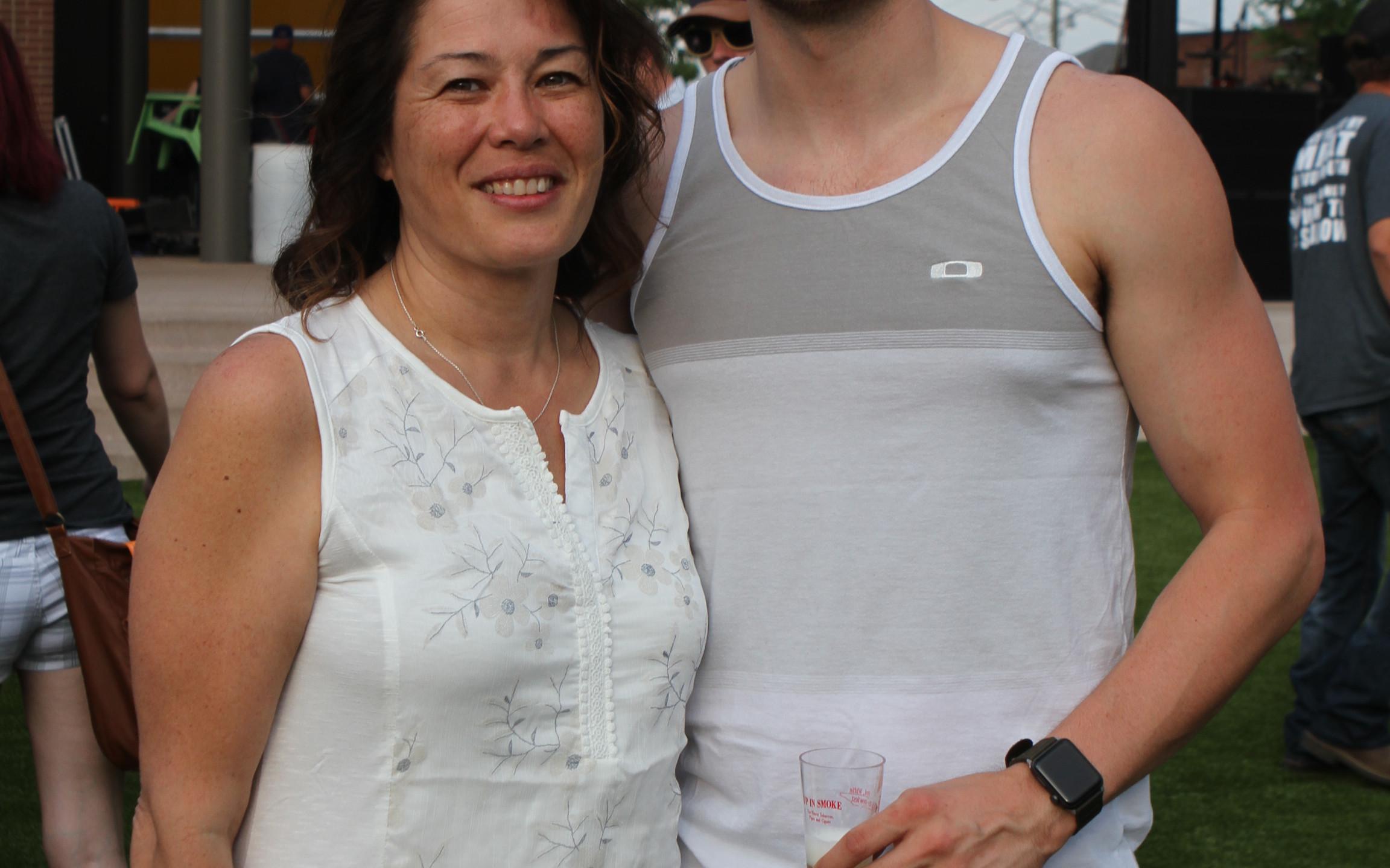 Barbara Mathieson and Brandon Pociask