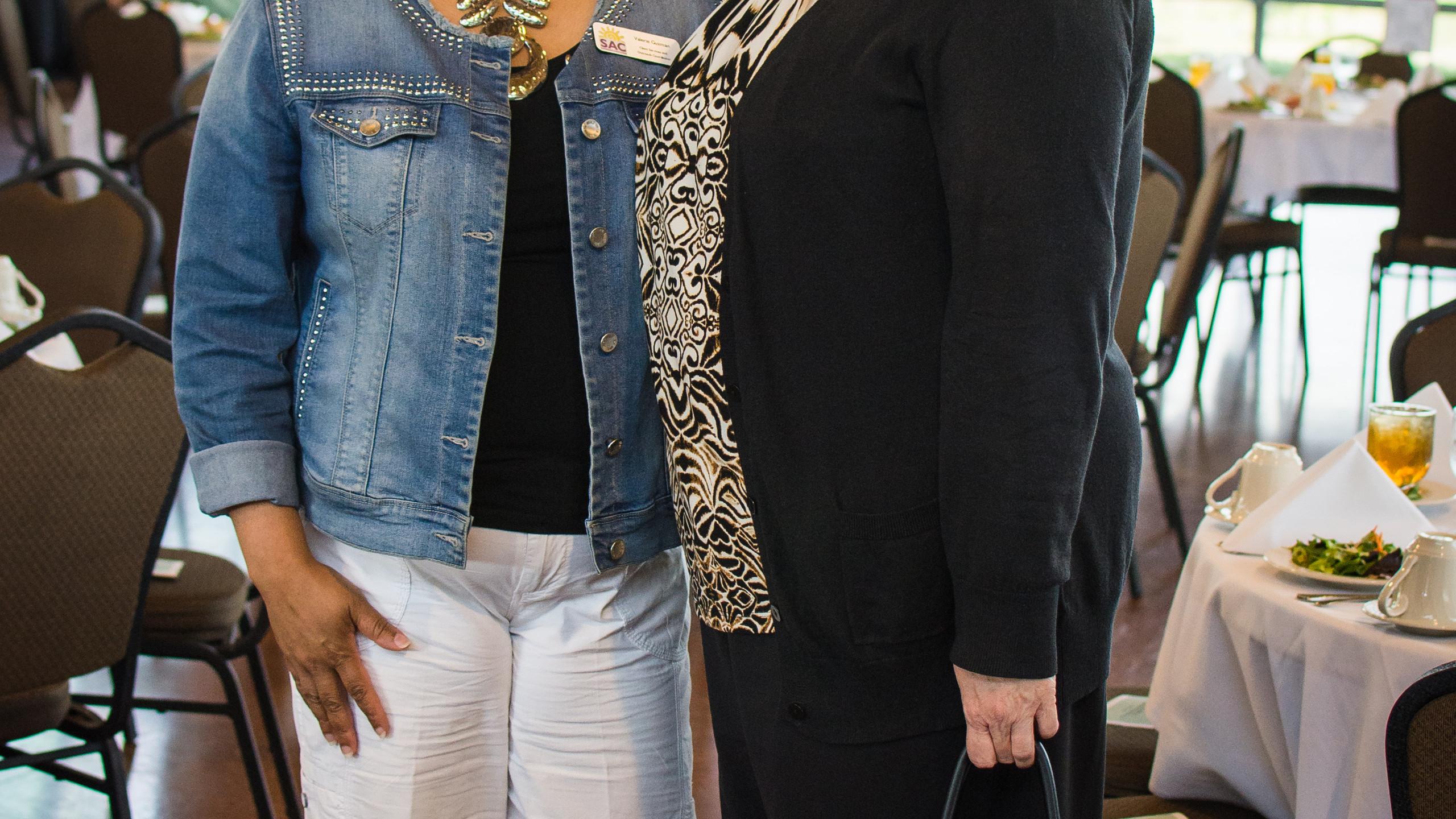 Valerie Guzman and Sonda Finley