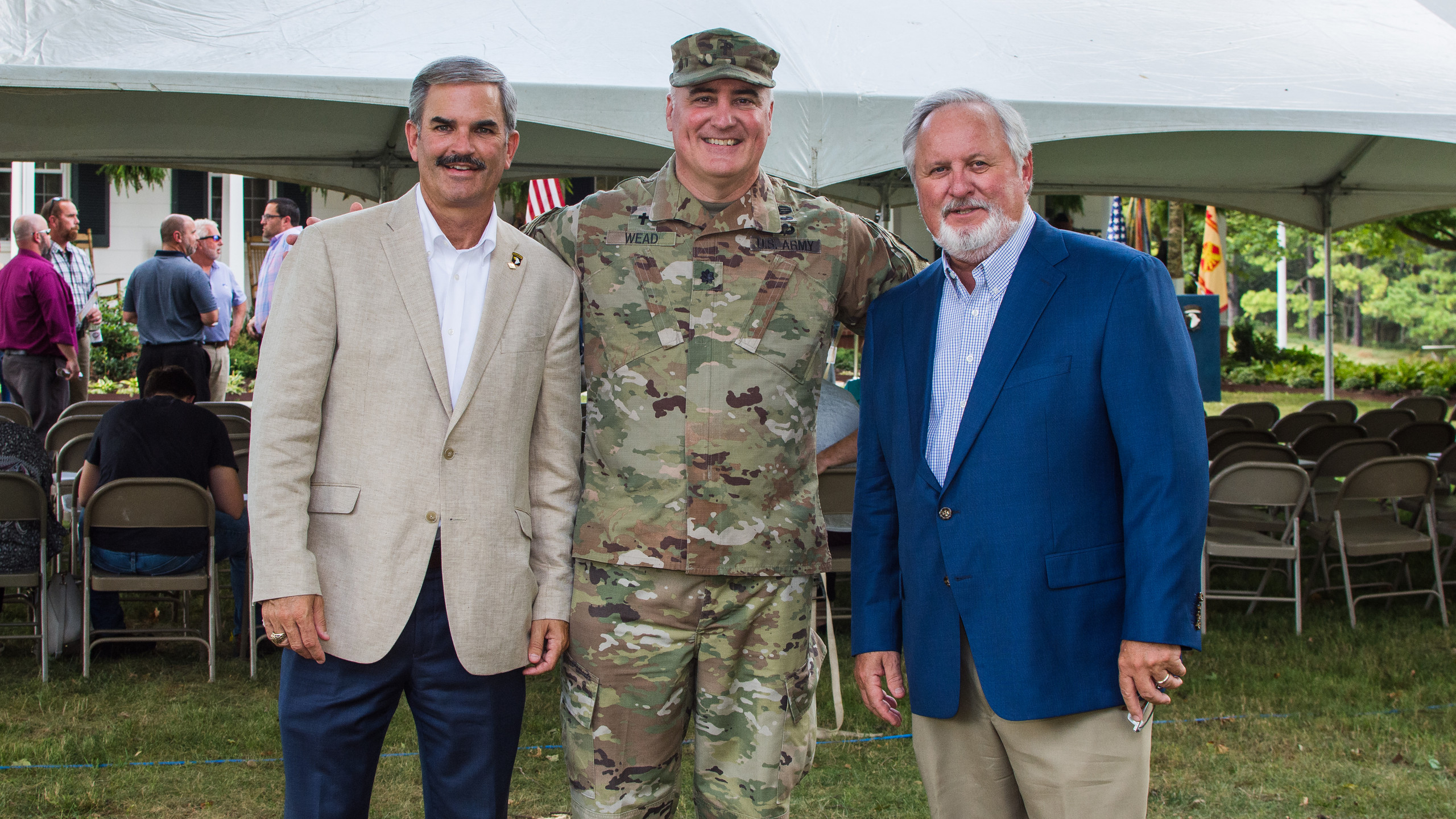Charlie Koon, Lt Col Wead, and Sammy Stu