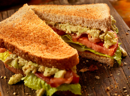 Tennessee Loaded Avocado, Bacon, Lettuce, Tomato Sandwich