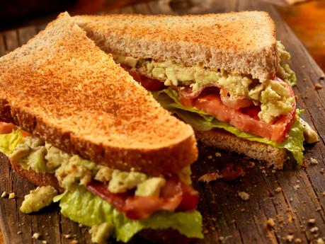 Tennessee Loaded Avocado, Bacon, Lettuce, Tomato Sandwich