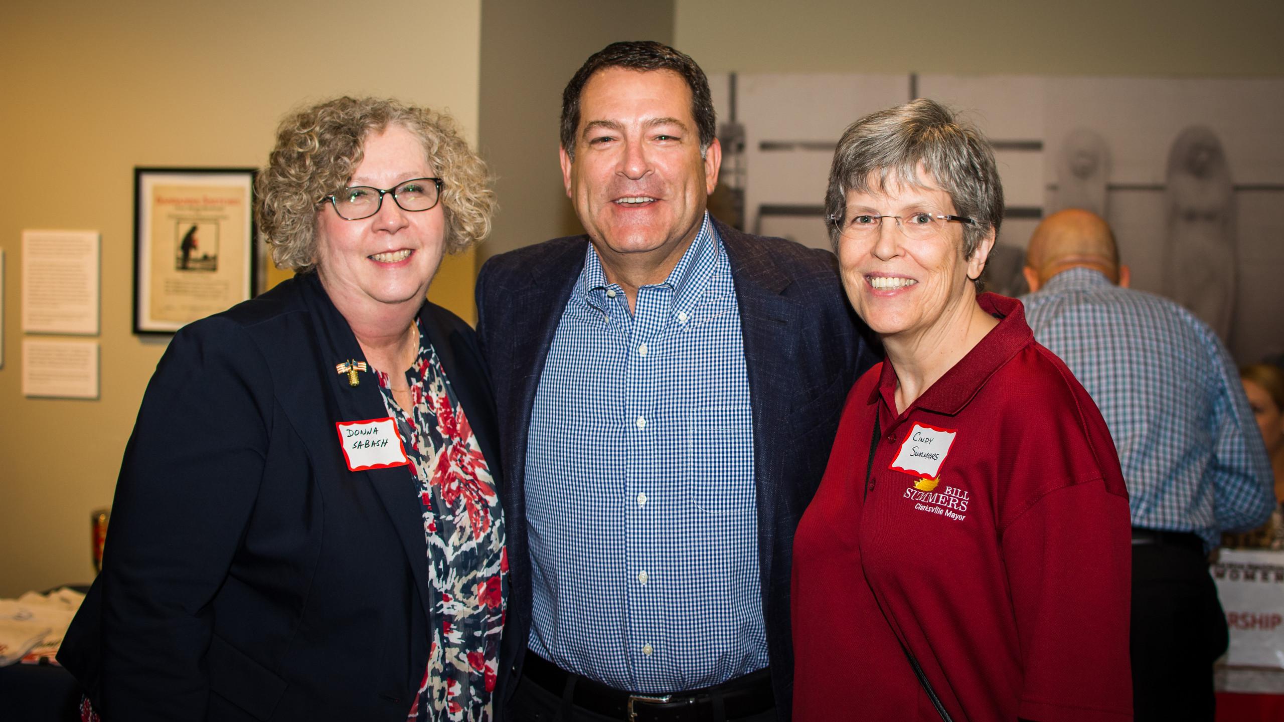 Donna Sabash, Mark Green, and Cindy Summ