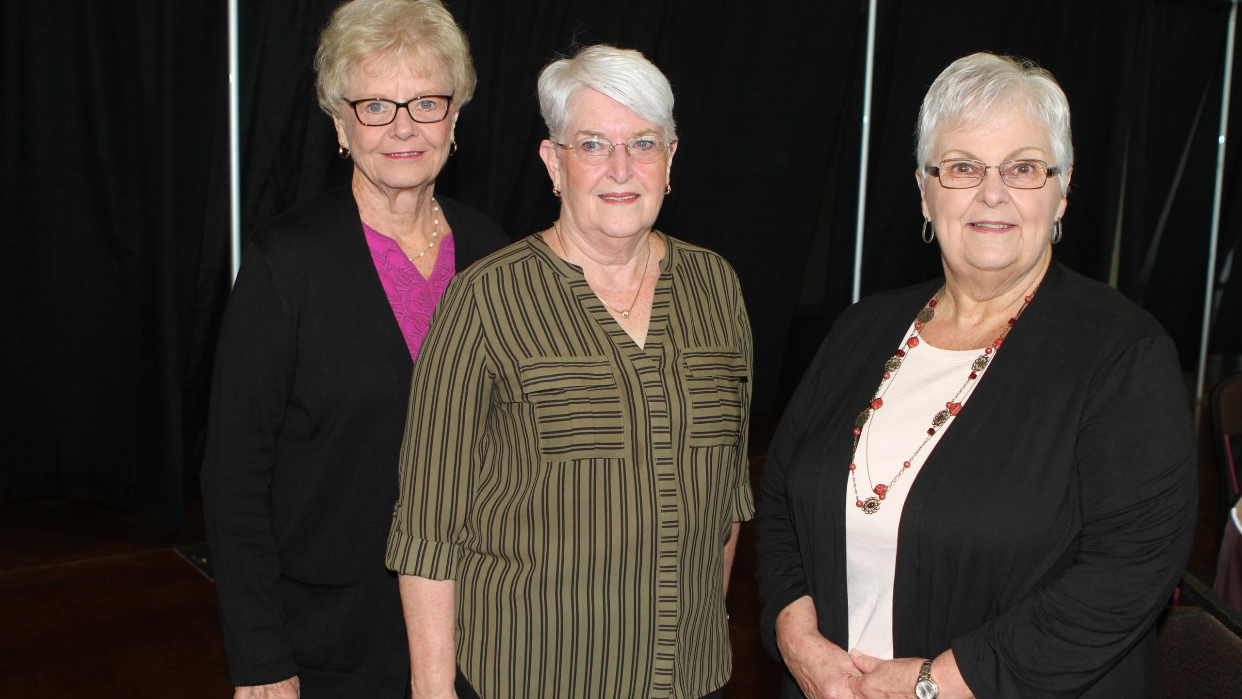 Nancy Leutert, Cheryl Chapin, Betty Ches