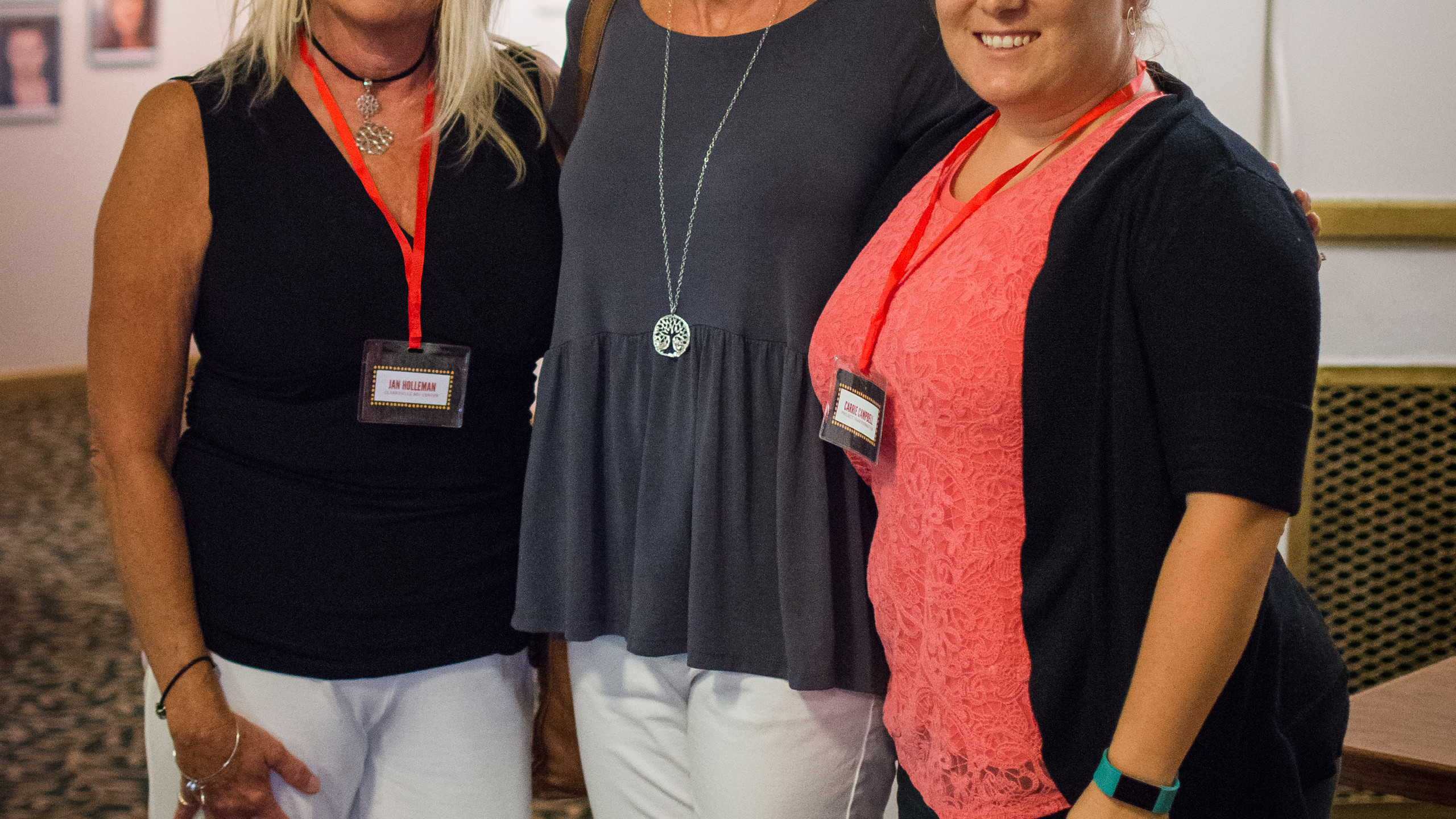 Jan Holleman, Lisa Martin, and Carrie Ca