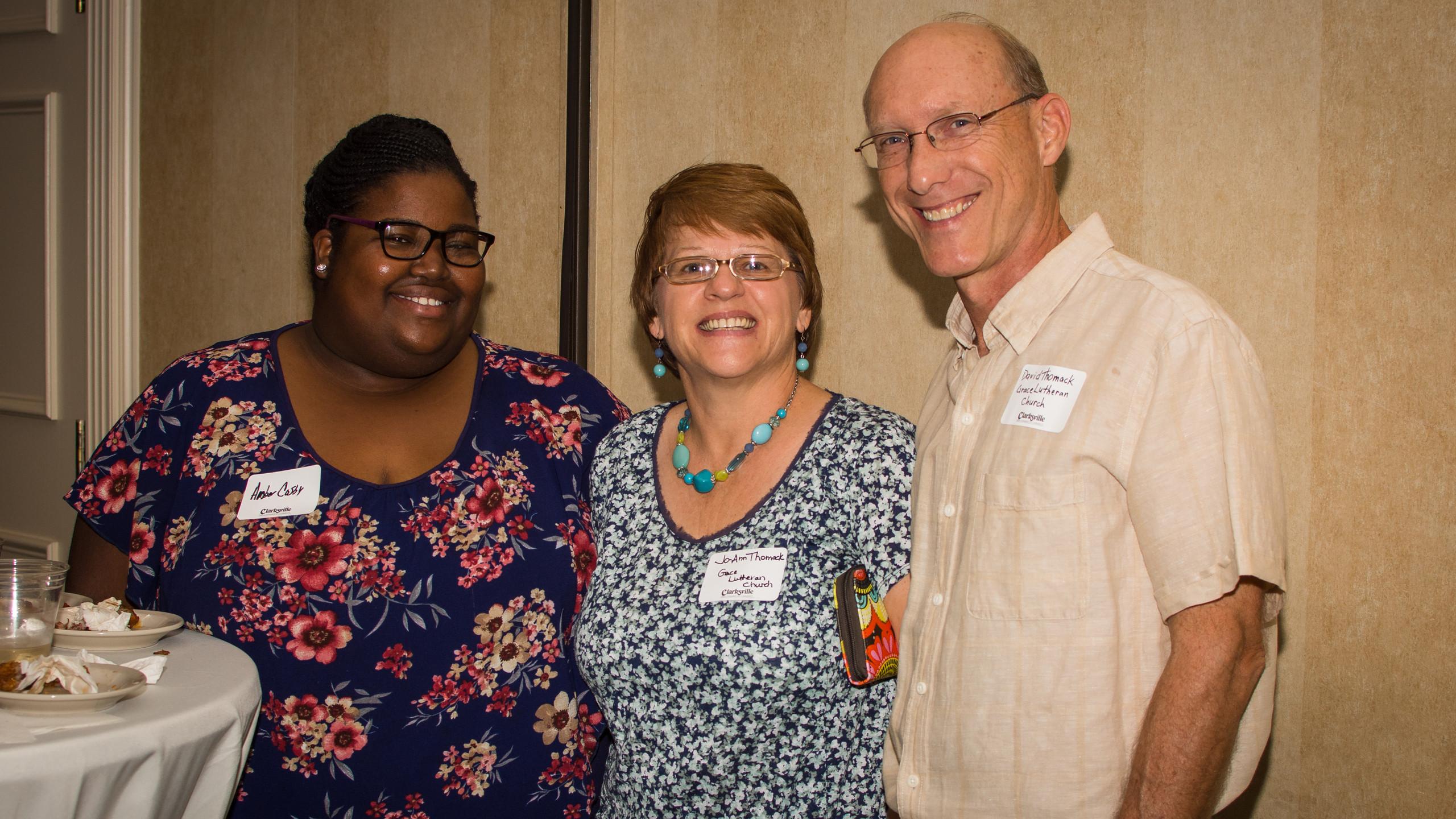 Amber Cosby, Jo Ann Thomack, and David T