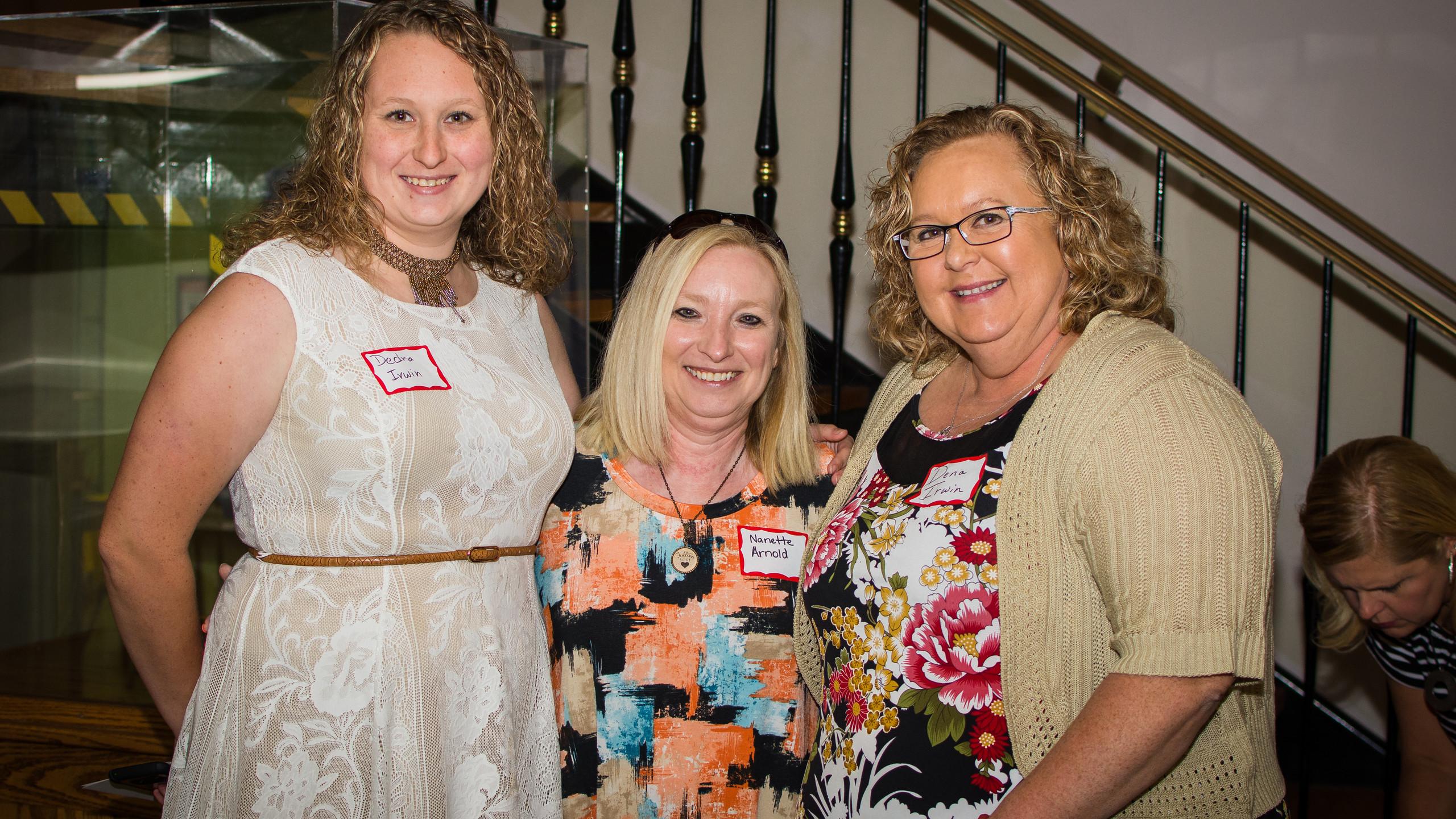 Dedra  Irwin, Nanette Arnold, and Dena I