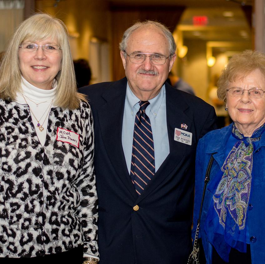 Jane Powers, Tim Powers, and Anne Clark