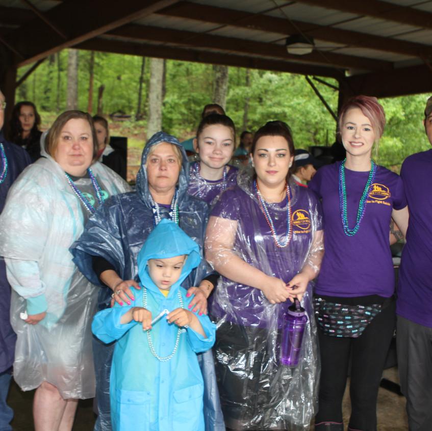 Team No More Darkness, hiking in memory of Nikki Whittier