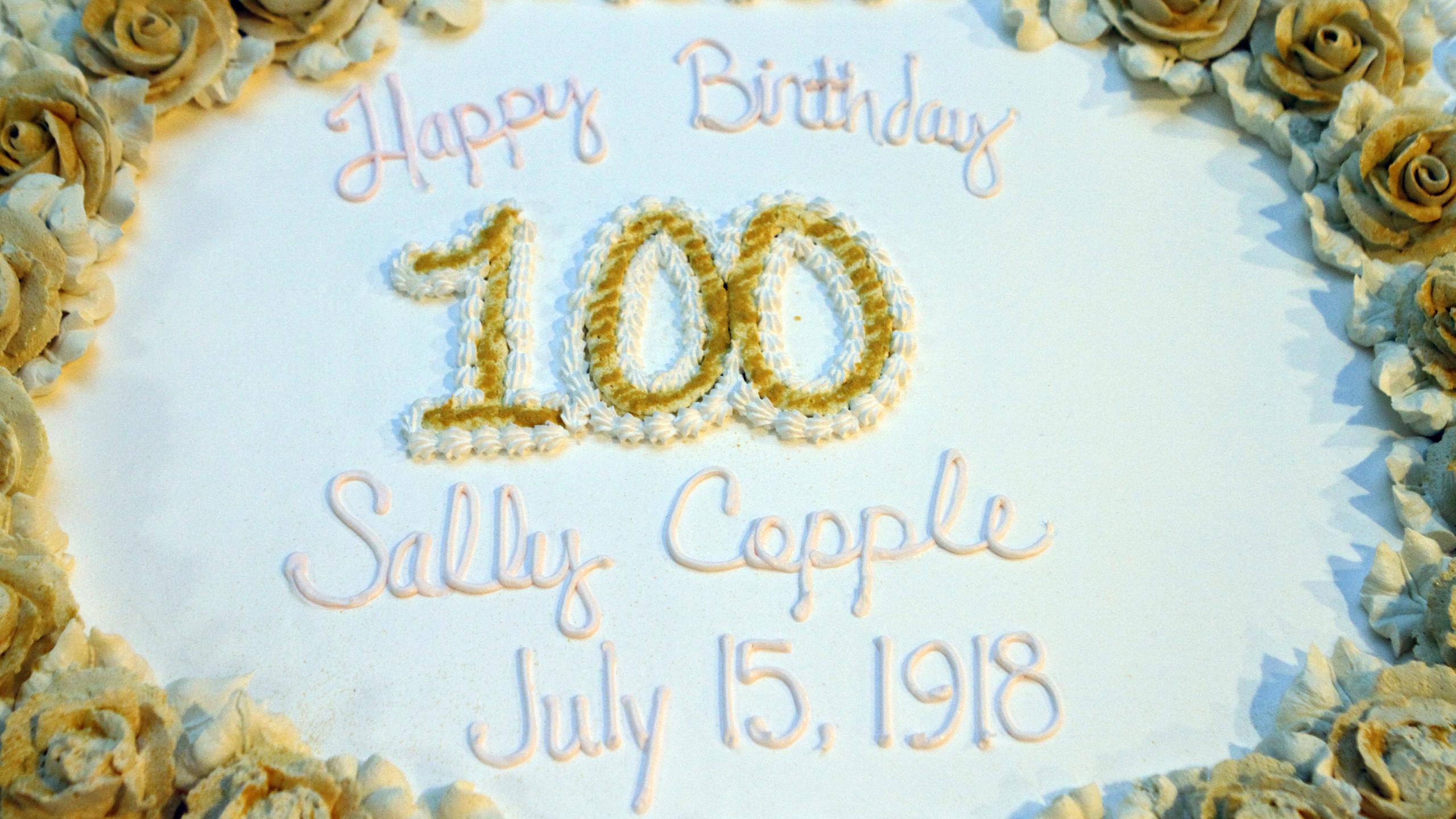 Sally Copple celebrates her 100th birthd