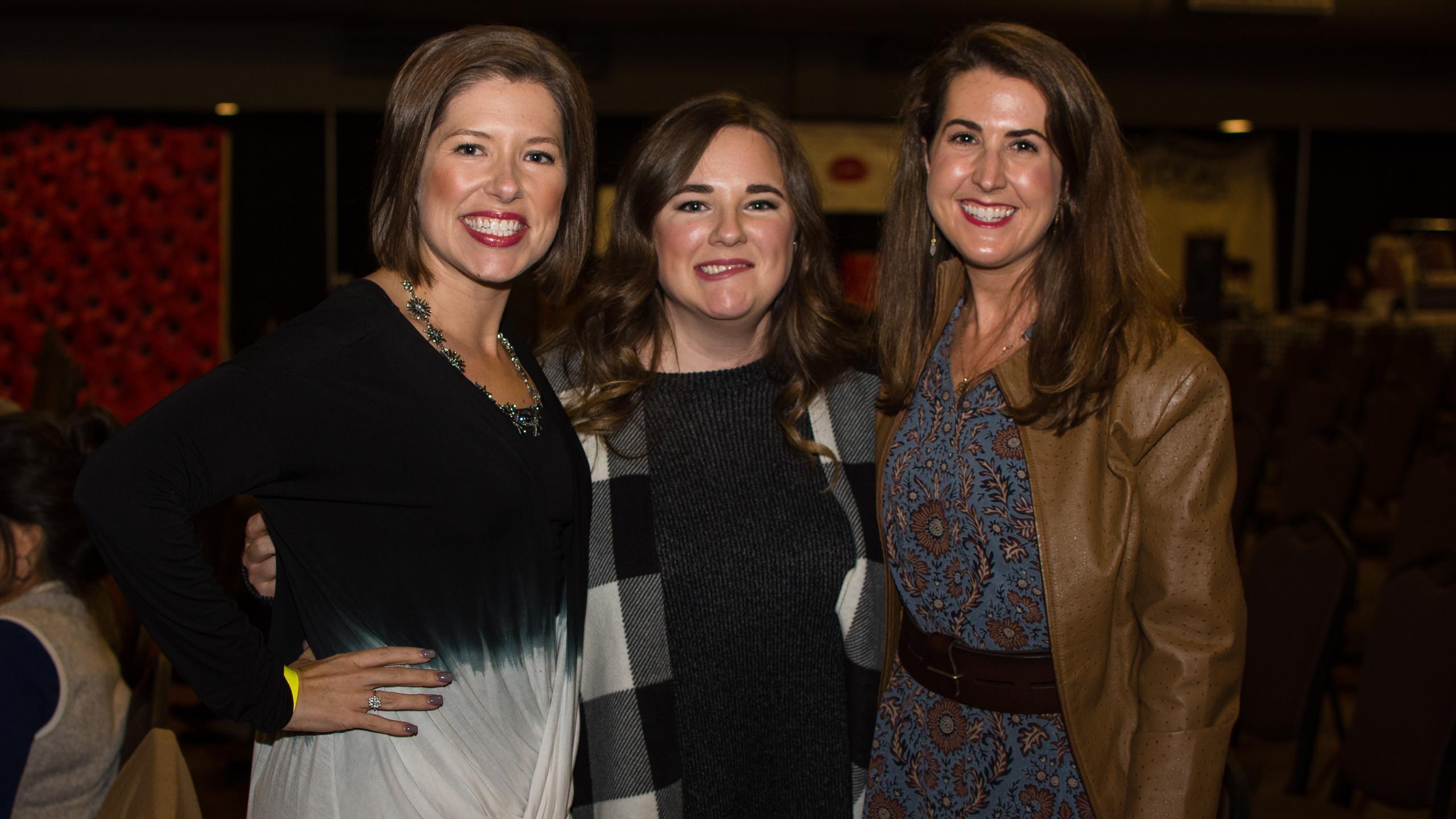 Ashley Jackson, Rebecca Langford, and Jo