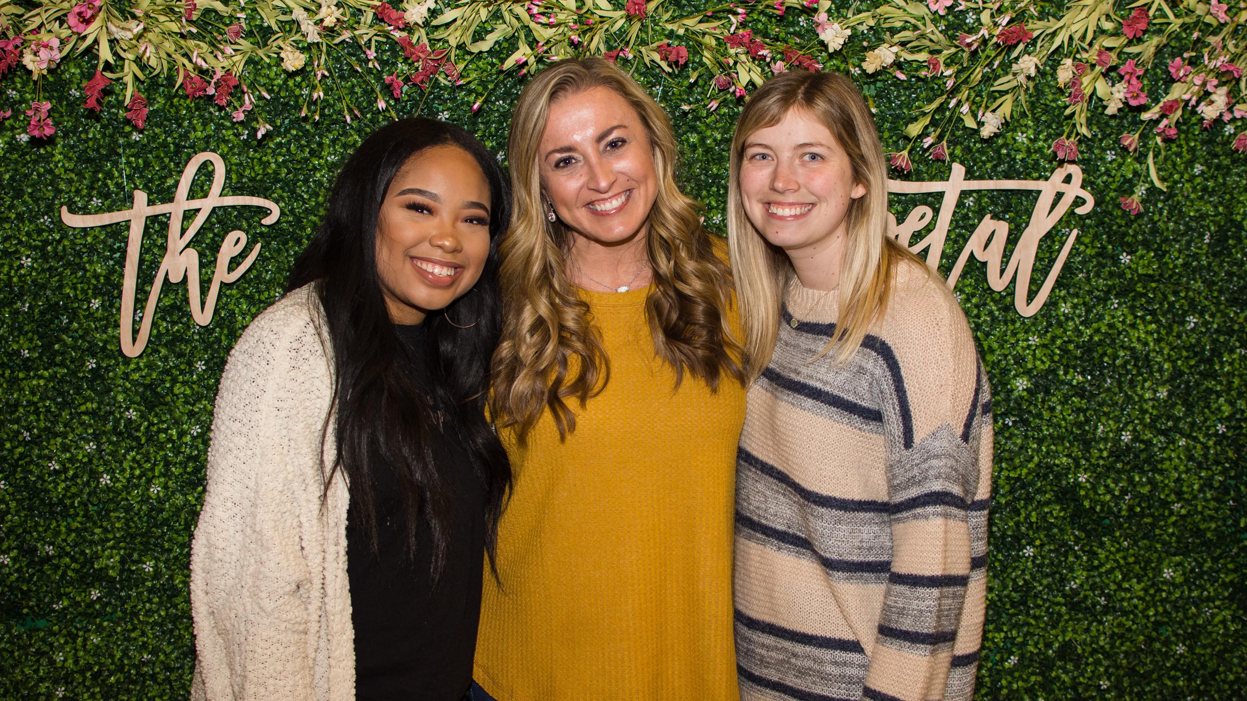 Olivia Carter, Danielle Stack, and Megan