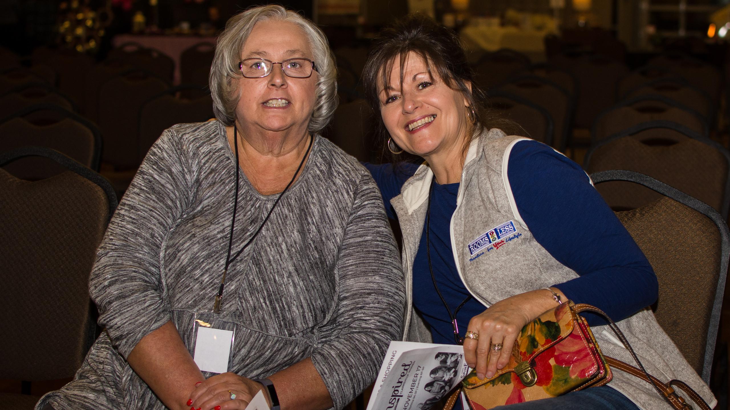 Peggy Williams and Theresa Burkhart