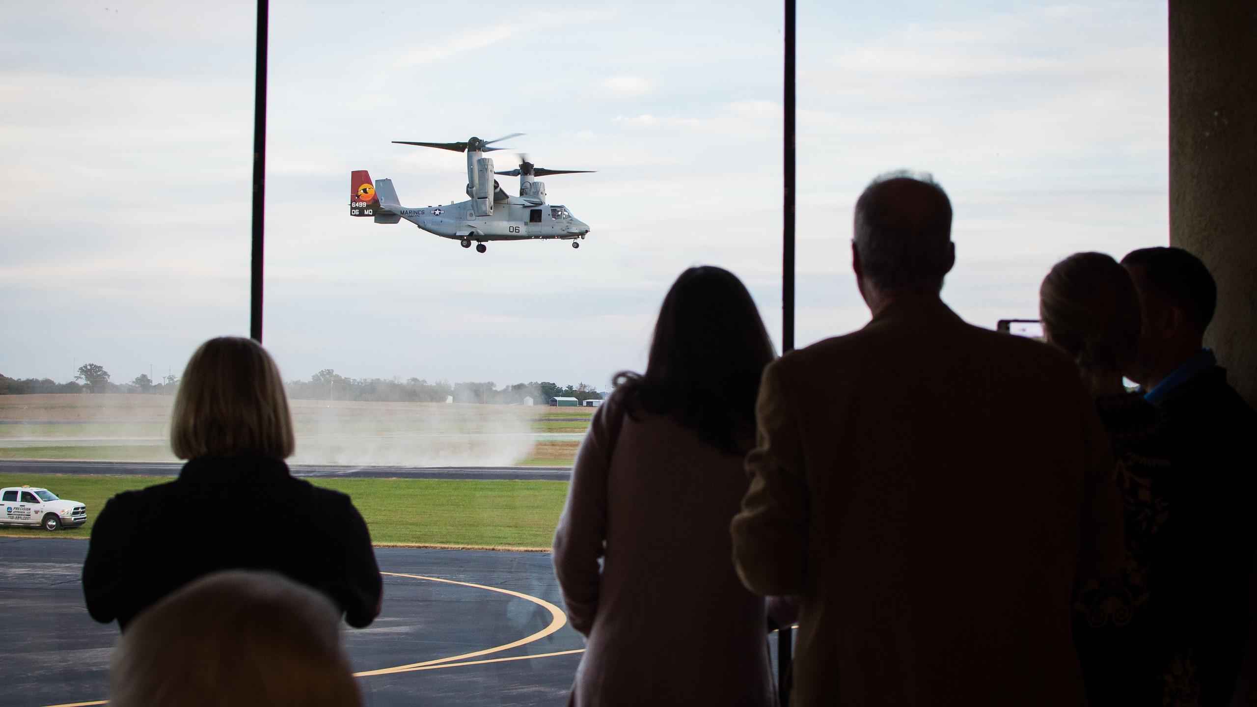 Osprey Landing During Event