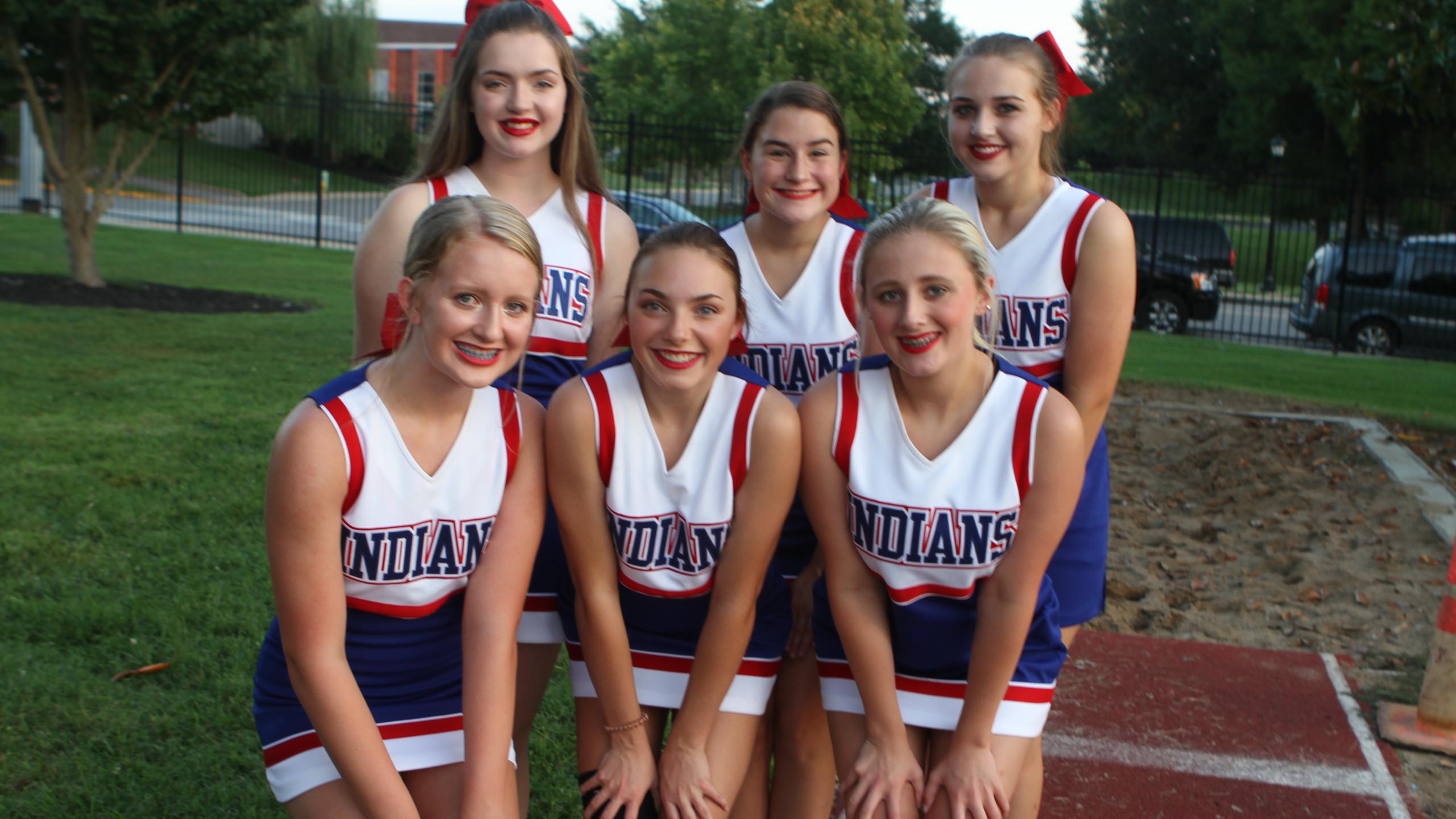 Montgomery Central Indians Cheerleaders.