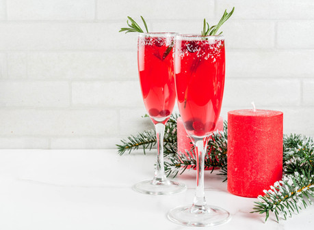 Holiday Mocktail: Cranberry Mimosa Spritzer