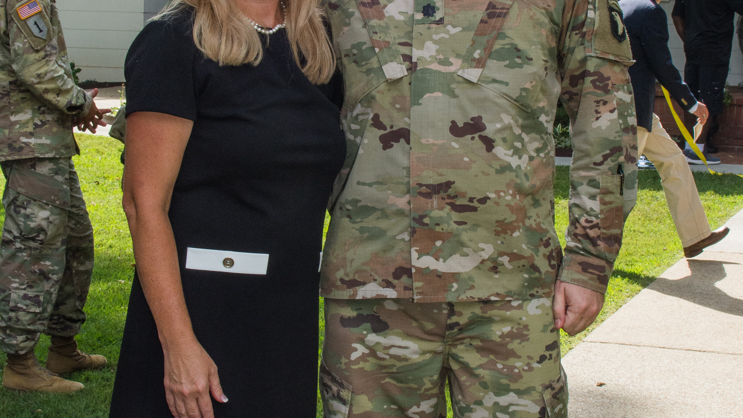 Kim Wead and Lt Col Wead