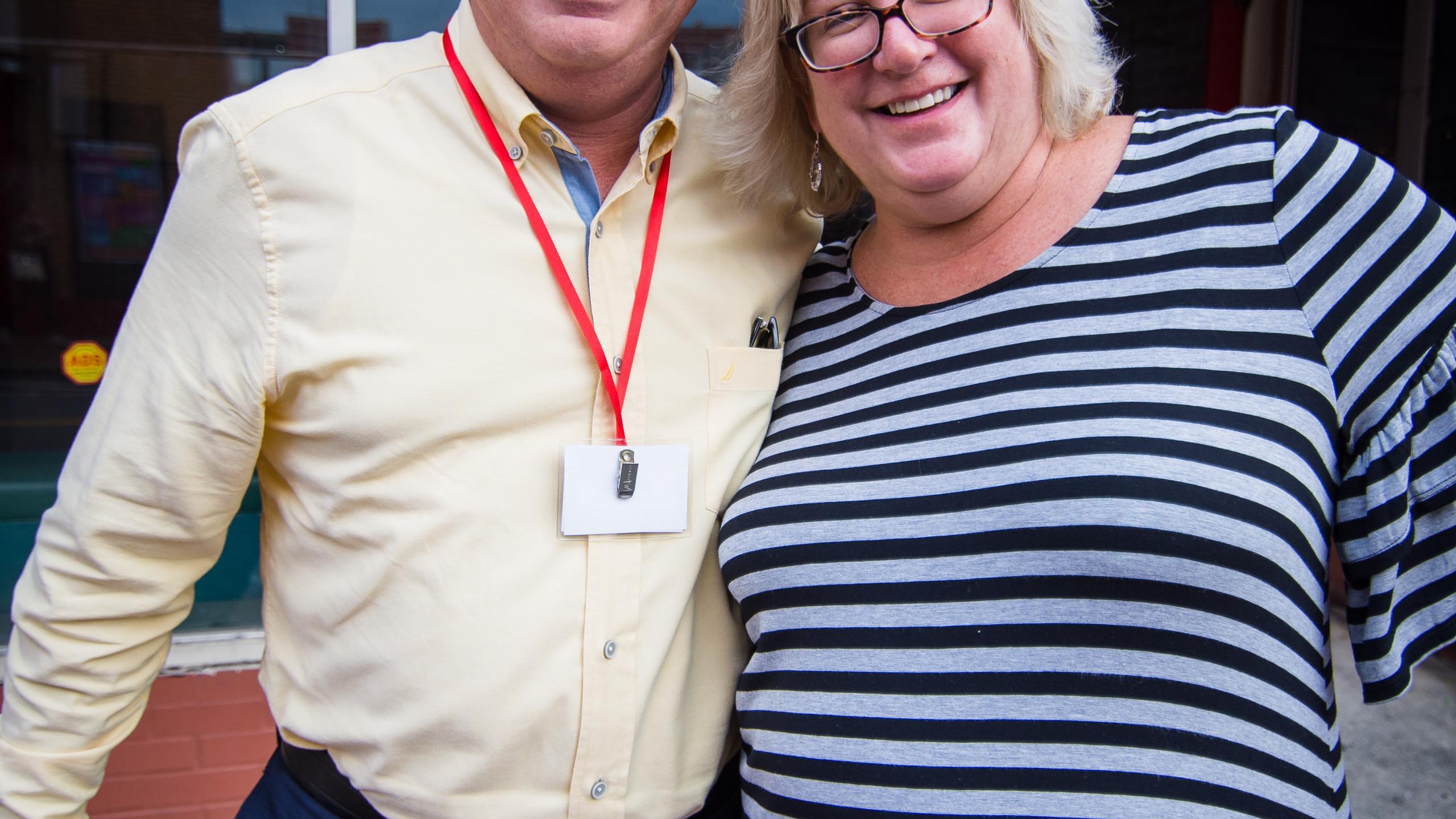 Jeff Harris and Melissa Schaffner