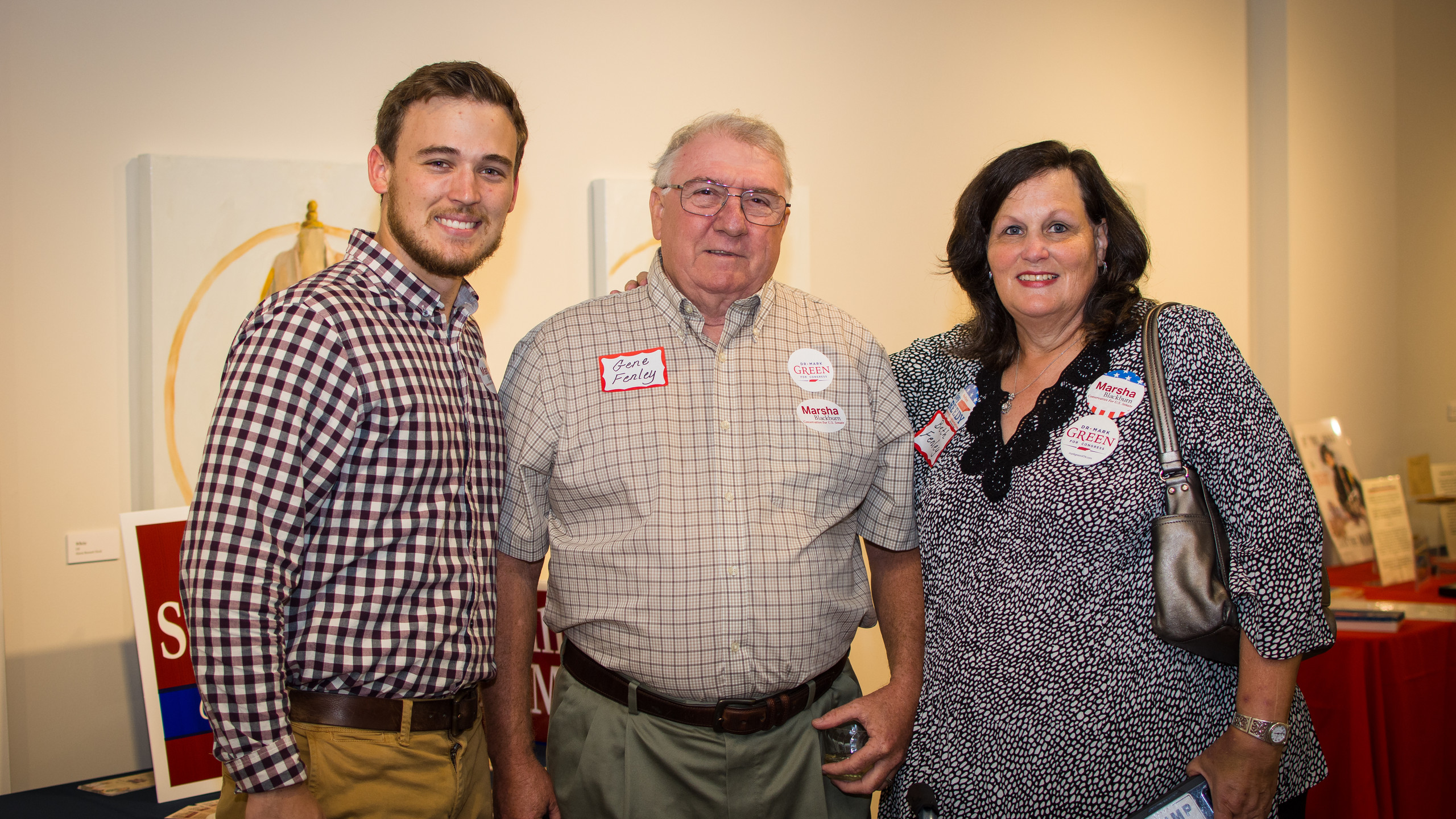 Alex Vanderford and Gene and Beth Fenley