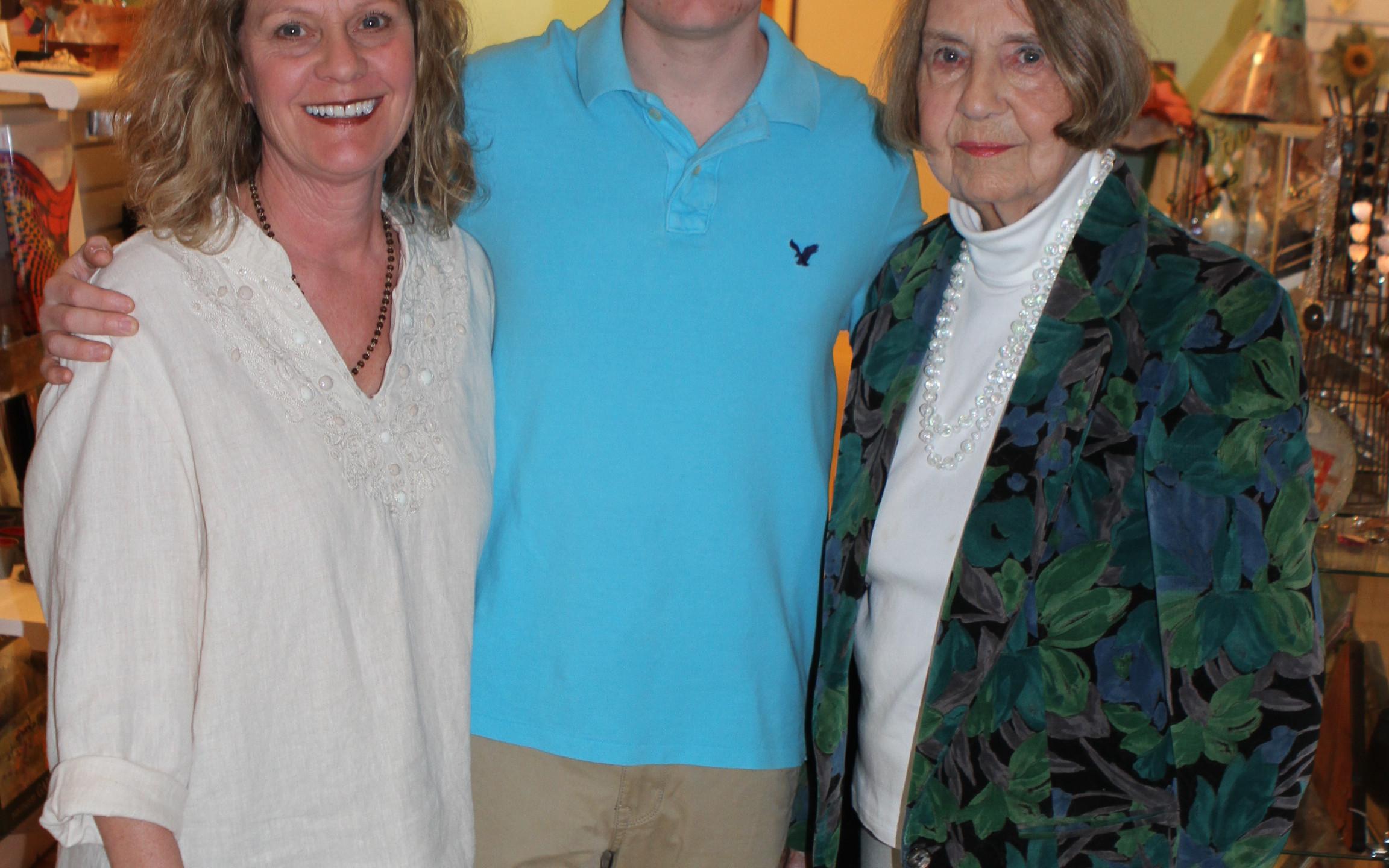 Christina & Daniel Parker, Shirley Teach Johnson
