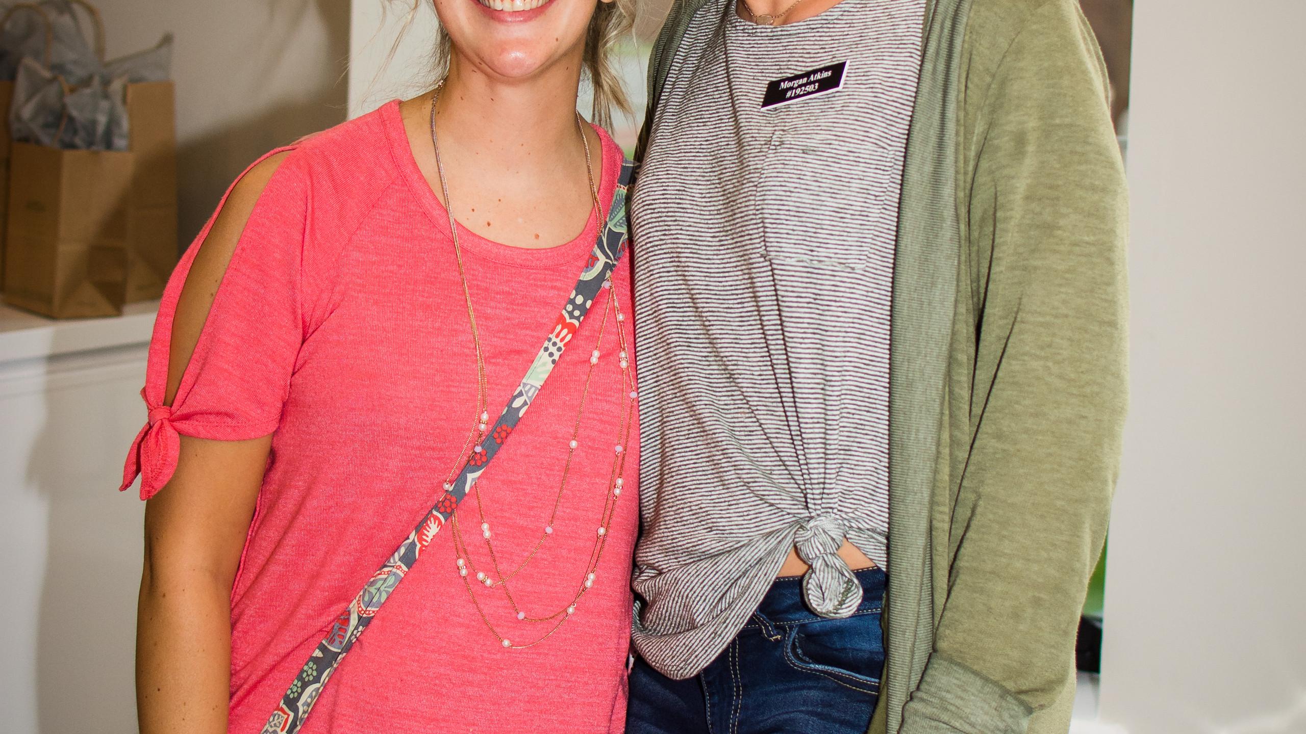 Kristen Koester and Morgan Atkins