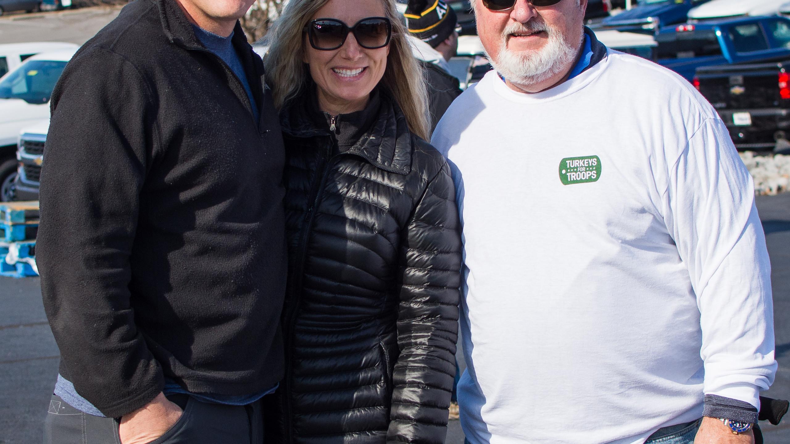 Col Joe Kuchan, Sarah Kuchan, and Sammy