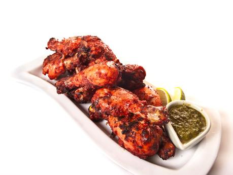 Tandoori Chicken Wings w/ Cilantro Dipping Yogurt
