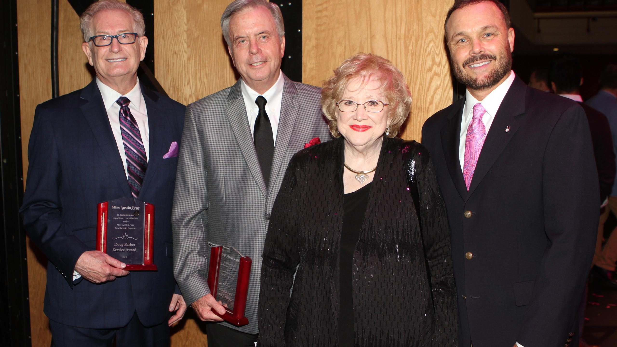 Doug Barber, Fred Landis, Marilyn Hand,