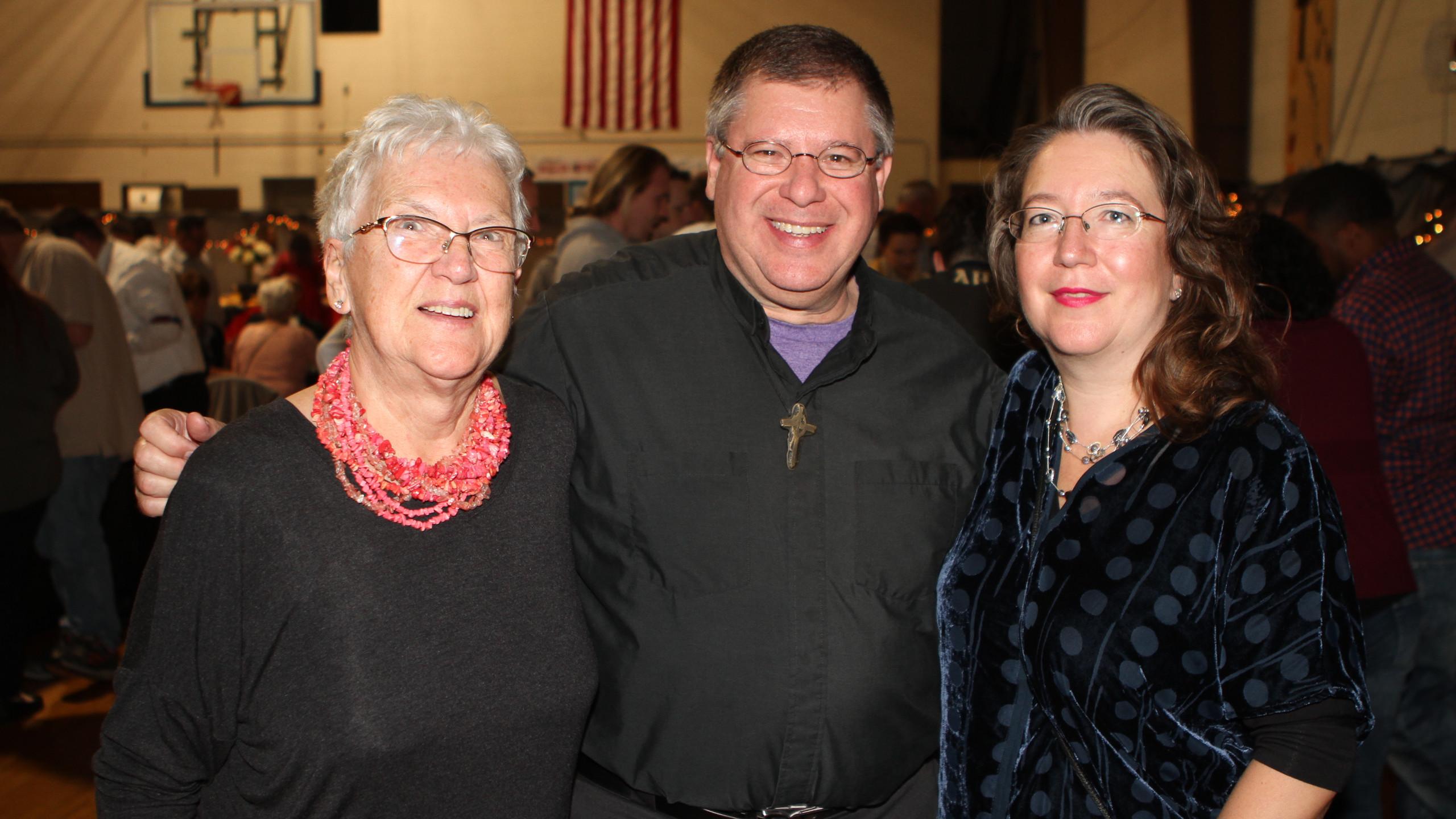 Renate Platz, Father Steve Wolf and Astr