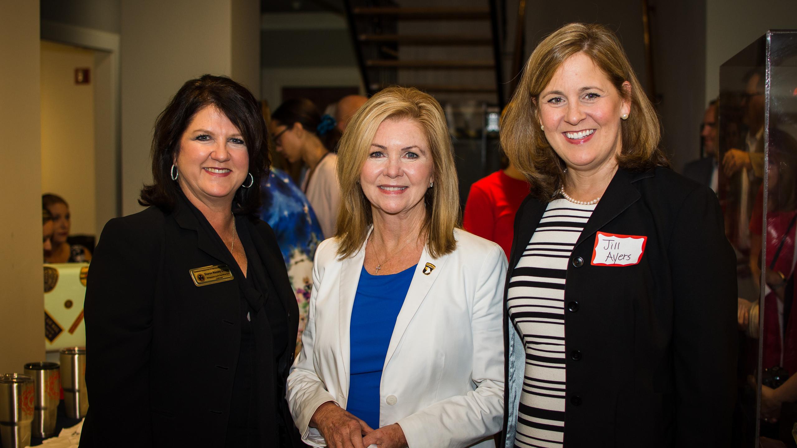 Sharon Grimes, Marsha Blackburn, and Jil